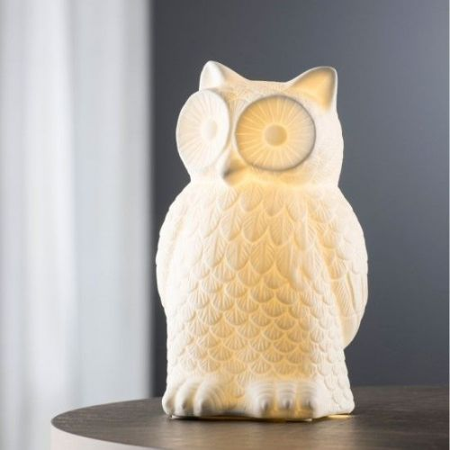 Belleek Living Wise Owl Luminaire Lamp